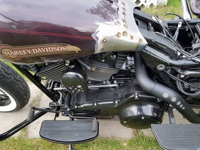 Harley Davidson Electra Glide Classic - custom farts fitting and airbrush by MaxArt, Calgary, Alberta