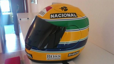 Airbrush by Maxart - airbrush on helmet - Ayrton Senna motive