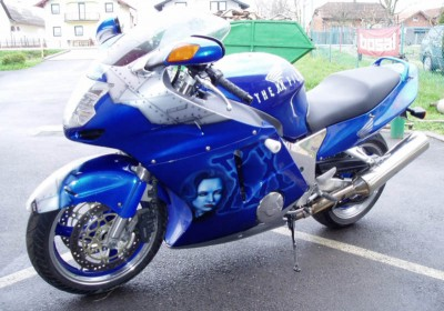 Airbrush by Maxart - Honda XX Blackbird, X-files motive