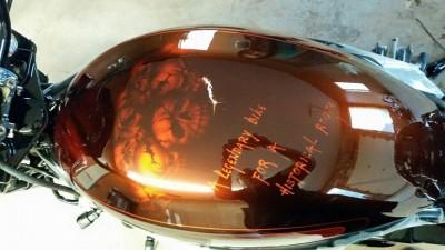 Airbrushed tank by Maxart - Harley Davidson Night Rod 66