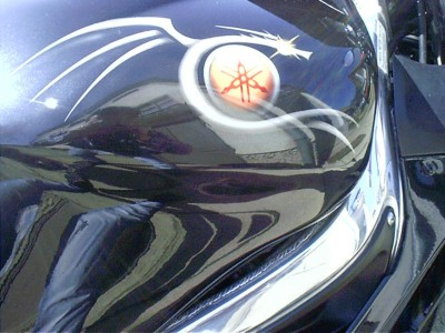 Airbrush by Maxart - Yamaha R6 - detail