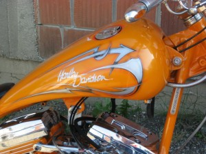 Tribal motive on Harley-Davidson